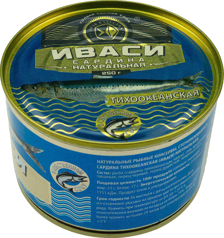 Canned Pacific sardine